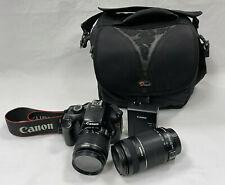 Canon EOS Rebel T3 12.2MP Digital SLR Camera w/ 18-55mm + 55-250mm Lenses + Case