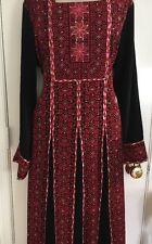 Jordanian Palestinian Embroidered Thobe Abaya Caftan Middle Eastern Women Dress