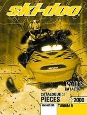 Ski-Doo parts manual catalog book 2000 TUNDRA R