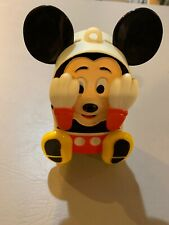 New listing Vintage 1980s Wind Up Mickey Mouse Peek a Boo Illco Baby Music Nursery Toy