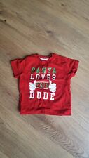 BOYS RED SANTA LOVES THIS DUDE T-SHIRT, AGED 1.5-2 YEARS
