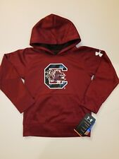 NWT Youth 7 UNDER ARMOUR SOUTH CAROLINA GAMECOCKS Sweater Hoodie Garnet BABY $46