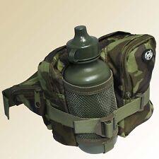 Mfh Riñonera vientre bolsa de Cinturón hip Bag con botella 0 7 & compartimentos