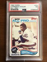1982 Topps Lawrence Taylor #434 Rookie Card RC PSA 7 NM New Label Giants HoF