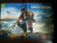 GHOST RECON WILDLANDS & MASS EFFECT ANDROMEDA Official Xbox One Poster 55 x 38cm