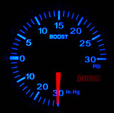 Omori 52mm Electrical Boost Turbo Gauge with Perfect Match VW Blue Backlight
