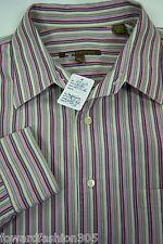 """ BCBG//Attitude.. Mens Large long sleeve button down shirt.. IN a Vertical Stri"