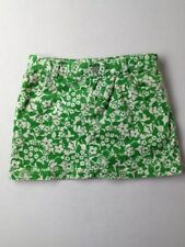 Girl Lilly Pulitzer Green Corduroy Fall Winter Skirt Skort Size 12 EUC