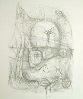 "DDR-Kunst, 1974. ""A. Rimbaud"". Lithographie Thomas RANFT (*1945 D) handsigniert"