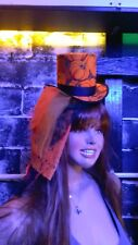 Ladies veiled Fascinator Top Hat / with matching Clutch - Burlesque - Victorian