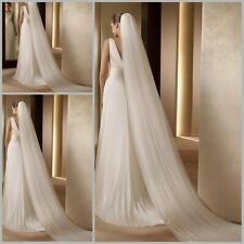 Pageant 1T 2M/3M/5M Long Bridal White/Ivory Veil For Wedding Cathedral With Comb