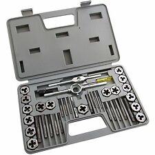 40 Pcs Metric Tap Wrench and Die Set M3 to M12 Fine Coarse for All Metals