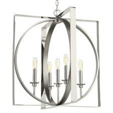 Progress Lighting Inman Col 5-Light Polished Nickel Pendant w/Satin Nickel Accen