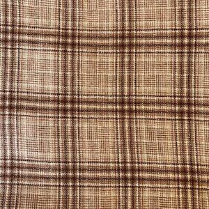 """Brown Plaid Wool Blend  Fabric  2 5/8 yds 60"""" Wide  New piece"""