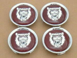 Jaguar Maroon Wheel Badge Emblem Center Hub Cap Set Of 4 MNA6249EA Fit 1988-2012