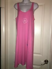 Women's Fresh Produce Hot Pink Tank Dress Cover Up  Sz L B9