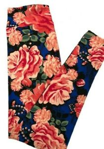 NWT Lularoe TC Leggings Amore Collection 2021 Valentines Day Flowers