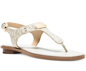 NIB Size 8 Michael Kors MK Plate MK Logo Thong Sandals