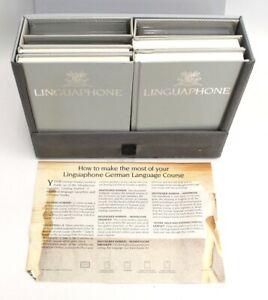 LINGUAPHONE LANGUAGE COURSE GERMAN Cassette Tapes 1-9 + Books In Case - B25