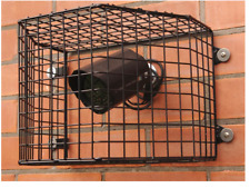 CCTV Camera & Light Security Anti-Vandal Hinged Cage Black Steel 33 x 24 x 26cm