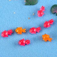 3X Miniature Poissons Jardin Décoration Micro Aménagement Paysager Décor Diy FE