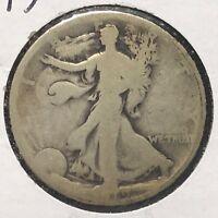 1919 50C Walking Liberty Half Dollar, SEMI-KEY DATE! (38364)
