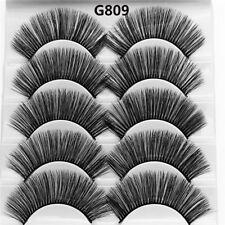 Skonhed 5 Pairs 3d Mink Hair False Eyelashes Thick Wispy Lashes Natural Cross G04