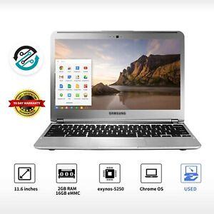 "Samsung Chromebook  11.6"" Laptop Intel Dual-Core 16GB SSD Wifi Webcam"
