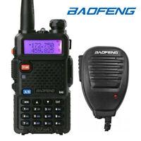 Baofeng UV-5R +Speaker Mic VHF UHF Dual-Band FM Ham Walkie Talkie Transceiver US