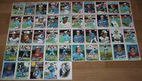 45 Topps ATLANTA BRAVES Baseball Cards 1977 1978 1981 1982 1985 1986 MLB Commons