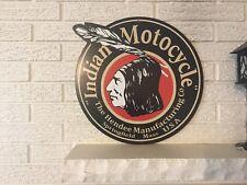 Indian Motorcycles Logo Heavy Steel Sign New Hendee Springfield MA