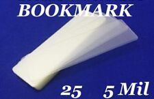 25 Bookmark Small 5 Mil Laminating Pouches Laminator Sleeves 2-1/8 x 6