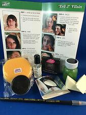 New Evil joker villian Makeup kit Mehron 9 piece set instructions fancy dress