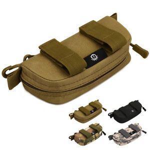Tactical Molle Sunglasses Pouch Hard Case Anti-Shock Eyeglasses Bag Box Holder