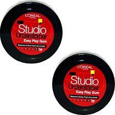 2x Loreal Studio Unzerstörbar Easy Play Gum Haargel Für Biegsame Stylings, 75ml