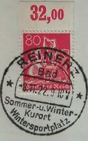 Infla 80PfArbeiter 1921 WZ 1 Oberrand Mi.Nr:166 P Sonderstempel