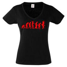 T-shirt noir manches courtes femme EVOLUTION PUNK