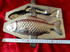 N° 326- ANCIENS MOULES A CHOCOLAT /GROS POISSON 24 cm 2 PARTIES  chocolate mold-