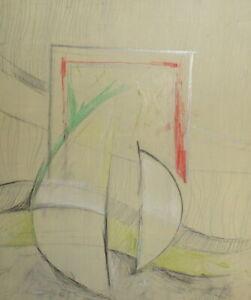 Vintage abstract futurist oil painting