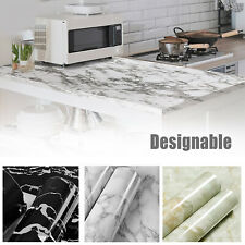 Gloss Marble Contact Paper Self Adhesive Wallpaper Sticker Kitchen Peel & Stick
