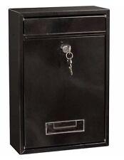 BLACK acciaio chiudibile a chiave parete lettera posta casella POSTALE CASSETTA postale buca delle lettere casella di posta