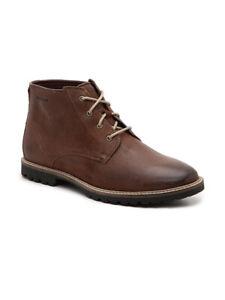 Men Cole Haan Nathan Chukka Leather Boot Light Roast C30077