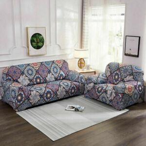 Morocco Sofa Cover Slipcover Polyester Spandex Stretch Printed Bohemian Cover