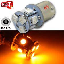 10X 1156 BA15S Car LED 5050 8 SMD Stop Tail Brake Light Bulb AC 6V Yellow Amber