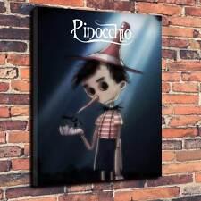 "If Tim Burton Did Disney Pinocchio Printed Canvas A1.30""x20"" -Deep 30mm Frame V1"