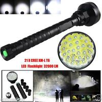 32000LM 24x XML T6 LED Flashlight 5 Modes Torch 26650/18650 Camping Lamp Light