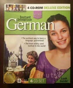 Topics Entertainment Instant Immersion German 4 CD Deluxe Edition NIB New in Box