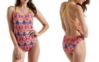 Speedo Missy Franklin 1-Piece Swimsuit Women's Diamond Geo Double Cross Back, 26