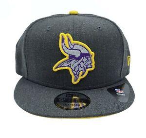 Minnesota Vikings New Era 9Fifty Heather Adjustable Snapback Hat NFL