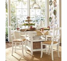 Pottery Barn 5-Piece Shayne Dining Table & Isabella Chair Set, Antique White